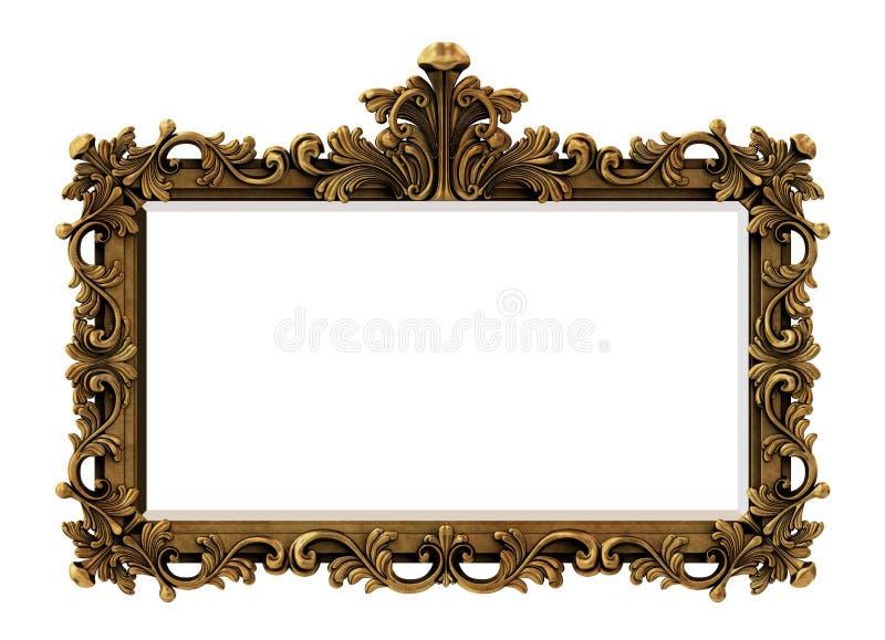 Frame barroco do ouro fotografia de stock
