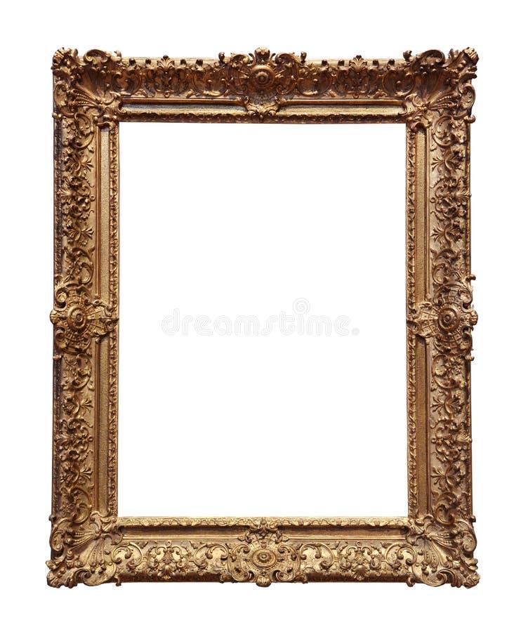 Frame barroco do ouro foto de stock