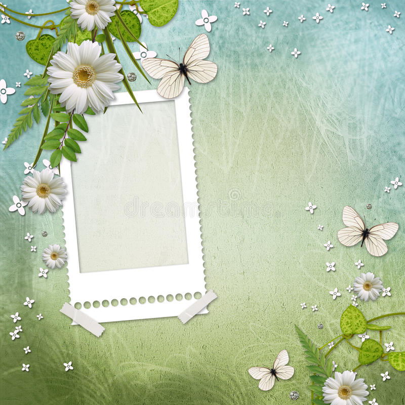 Download Frame with beautiful daisy stock illustration. Image of background - 20304472