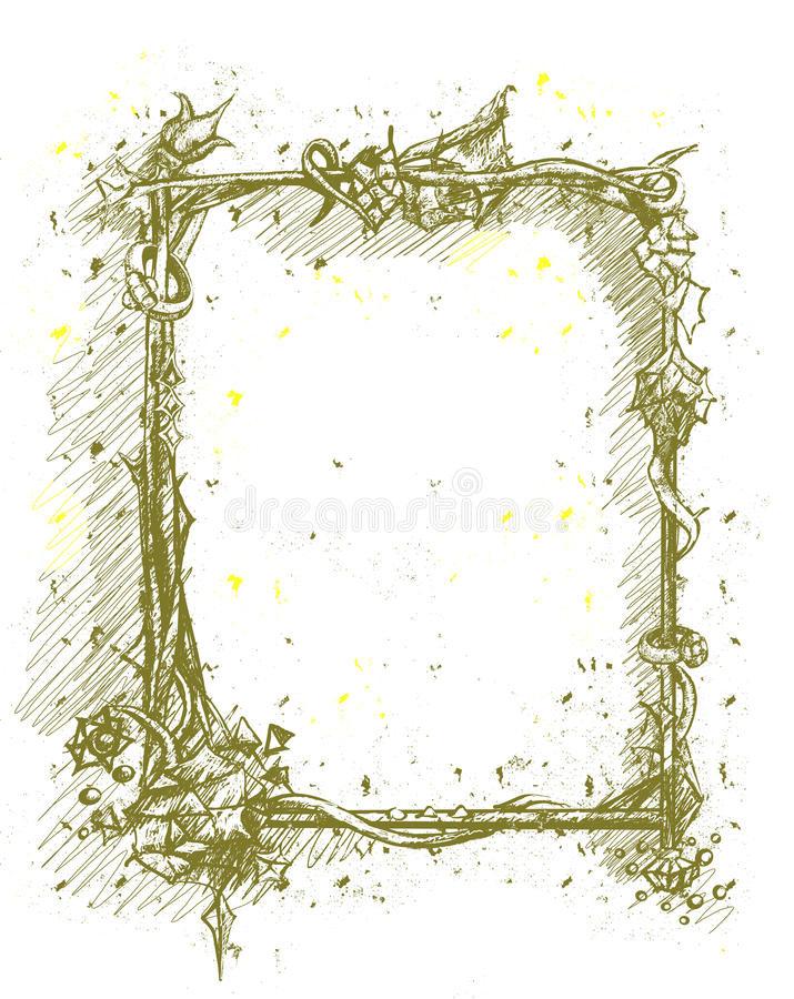 Frame black diamond vector illustration