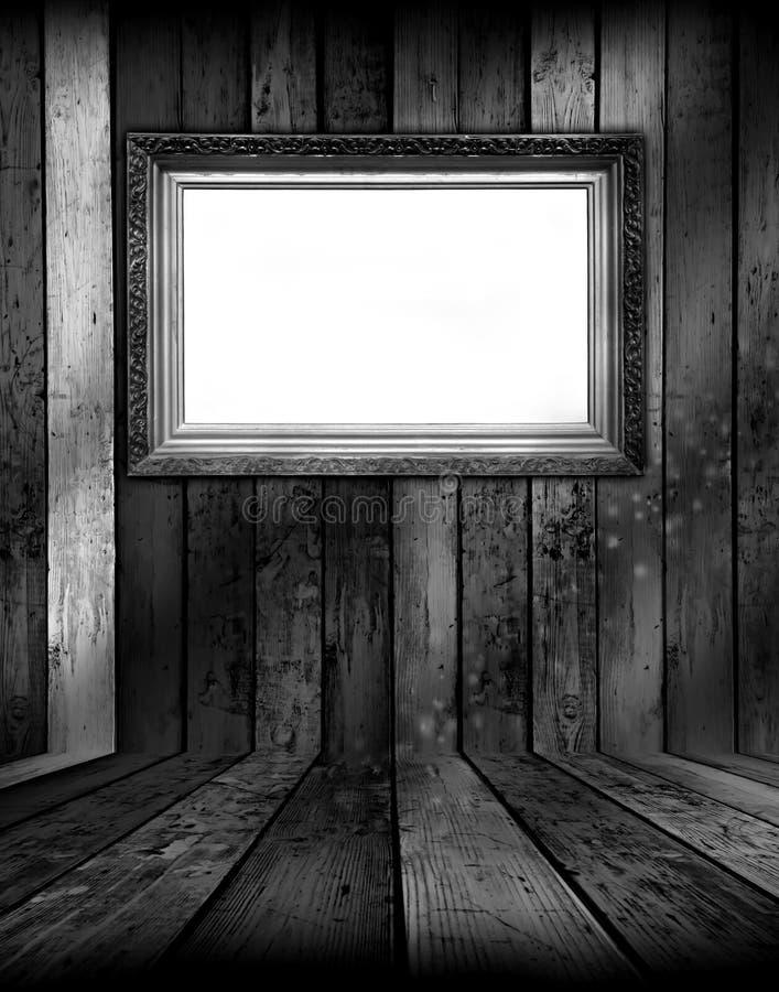 Frame in Black and White Room stock illustration