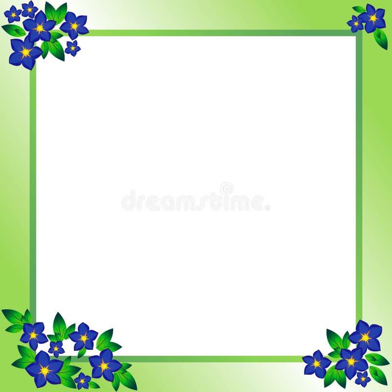 Download Frame with blue flowers stock vector. Illustration of frame - 26845280