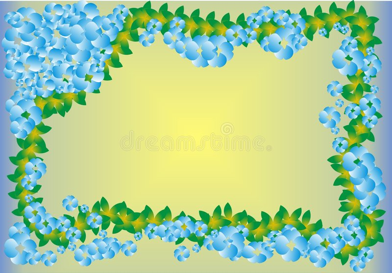 Download Frame with blue flowers stock vector. Image of plant, flower - 7505985