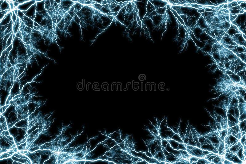 Frame of blue lightnings. Use for background stock photos