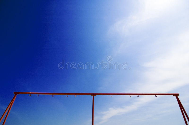 Frame in blue sky background royalty free stock images