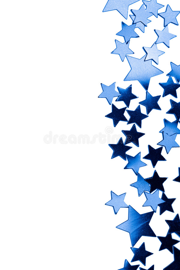 Frame of blue stars isolated stock image