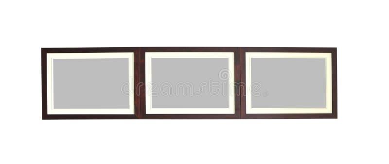 Frame bonito da foto feito pela textura de madeira fotografia de stock