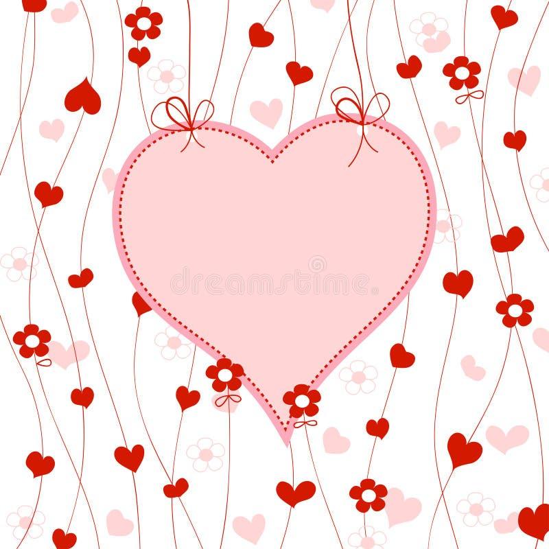 Frame bonito do coração ilustração royalty free