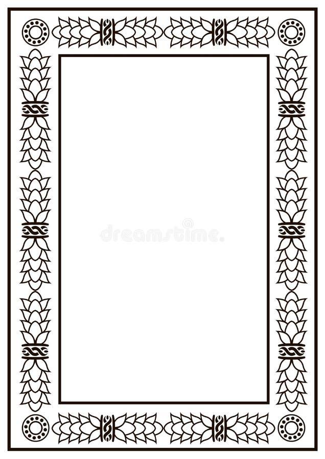 Frame border design template black and white decorative vector download frame border design template black and white decorative vector border stock illustration illustration stopboris Images