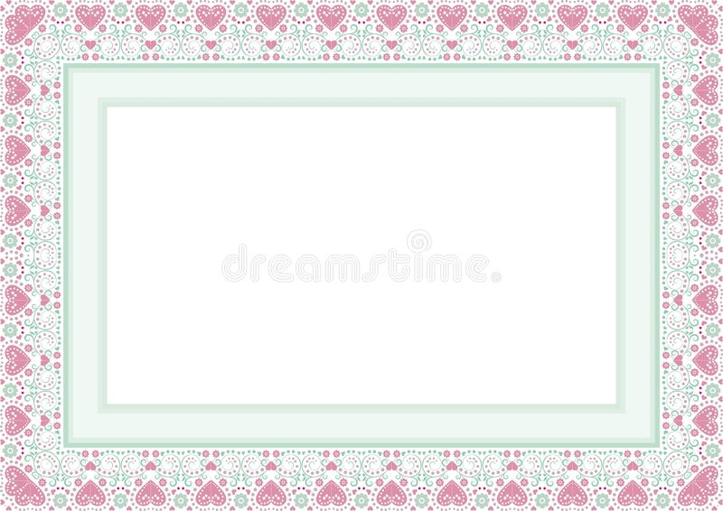 Frame / Border with Lovely design. Frame / Borde with Lovely design and cute color, simple and elegant with blank area royalty free illustration