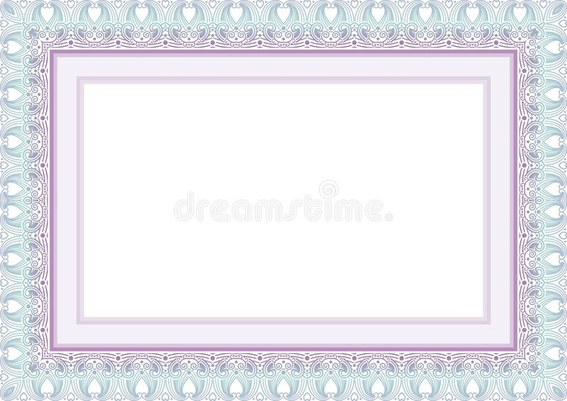 Download Frame Border With Lovely Design Stock Vector