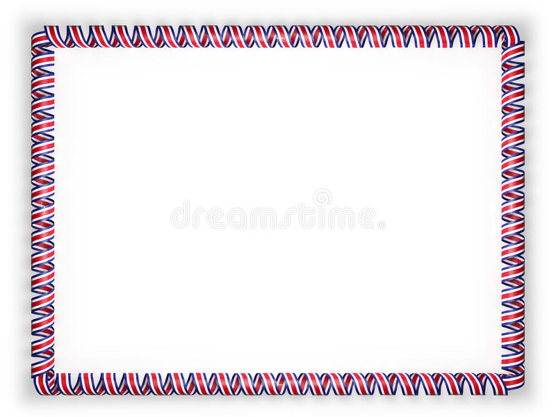 Frame And Border Of Ribbon With The Costa Rica Flag. 3d Illustration ...