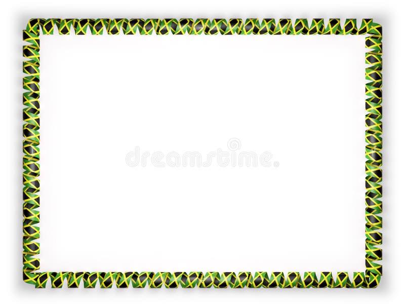 Frame and border of ribbon with the jamaica flag 3d illustration download frame and border of ribbon with the jamaica flag 3d illustration stock illustration toneelgroepblik Choice Image