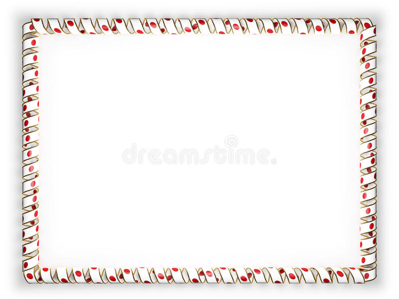 Frame And Border Of Ribbon With The Japan Flag, Edging From The ...