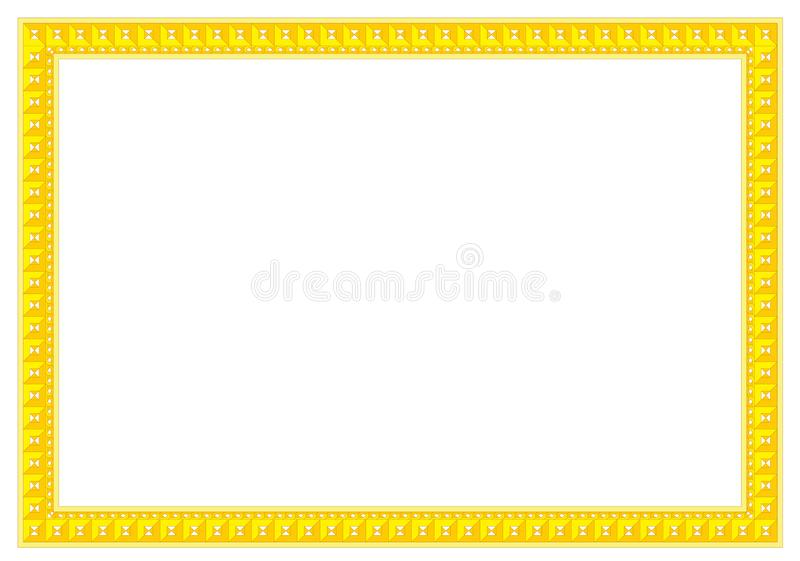 Geometric Frame & Border Symmetrical style ready for add text royalty free stock photography