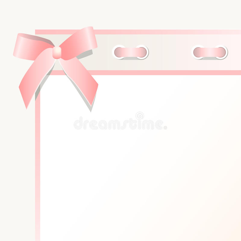 Frame With A Bow Royalty Free Stock Images