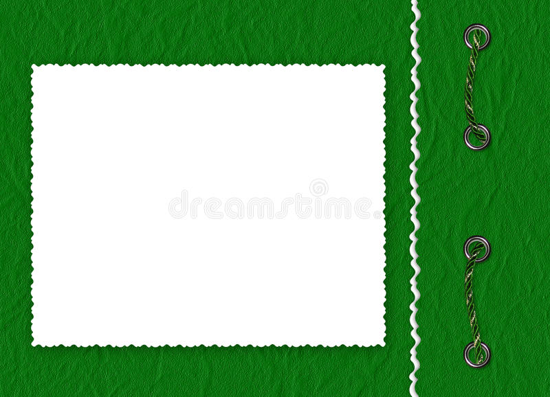 Download Frame With Braid The Green Background Stock Illustration - Illustration of photography, invitation: 12051116