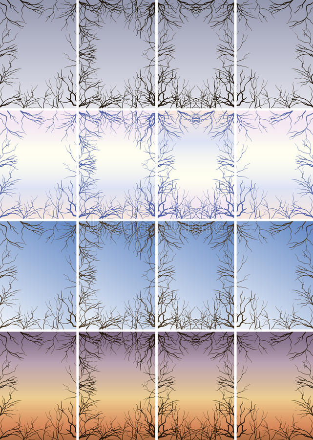 Frame of the branches against the sky royalty free stock photography