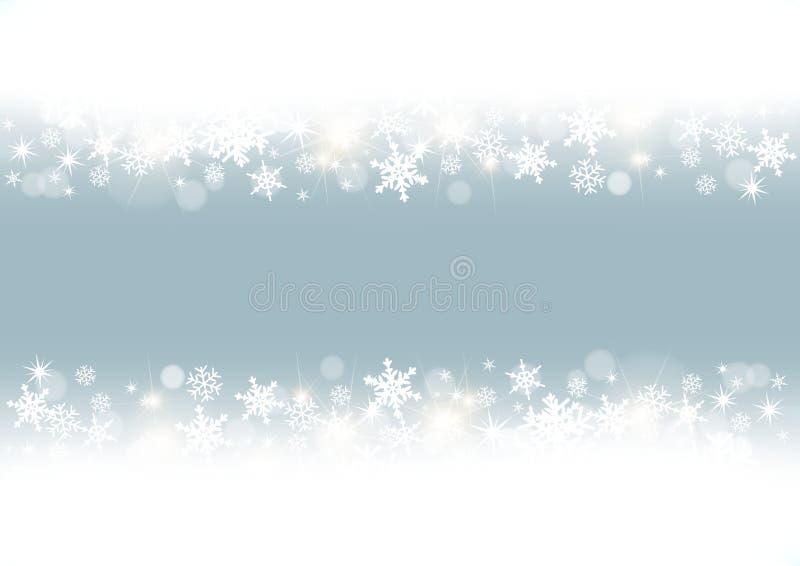 Frame branco dos flocos de neve ilustração do vetor