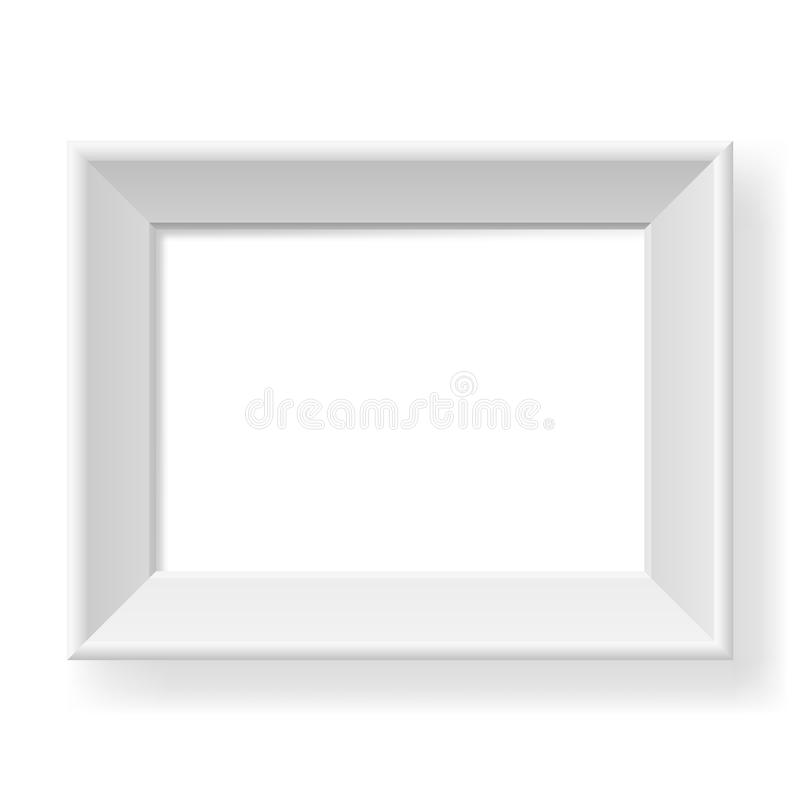 Frame branco realístico. ilustração do vetor