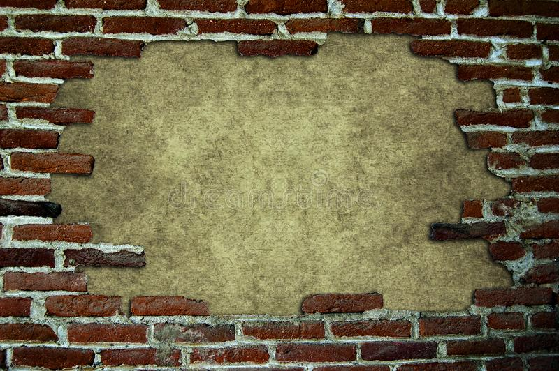 Download Frame with brick stock photo. Image of architect, concrete - 15746304