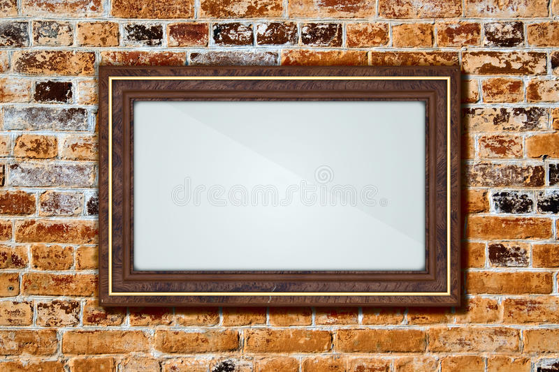 Download Frame on a brick wall stock illustration. Illustration of obsolete - 32463453