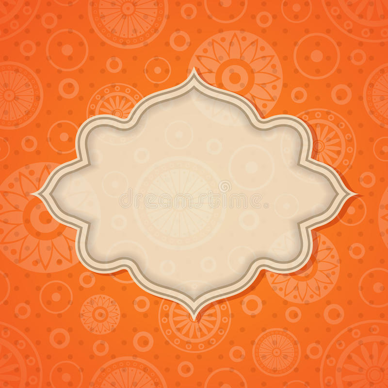 Frame on a bright background