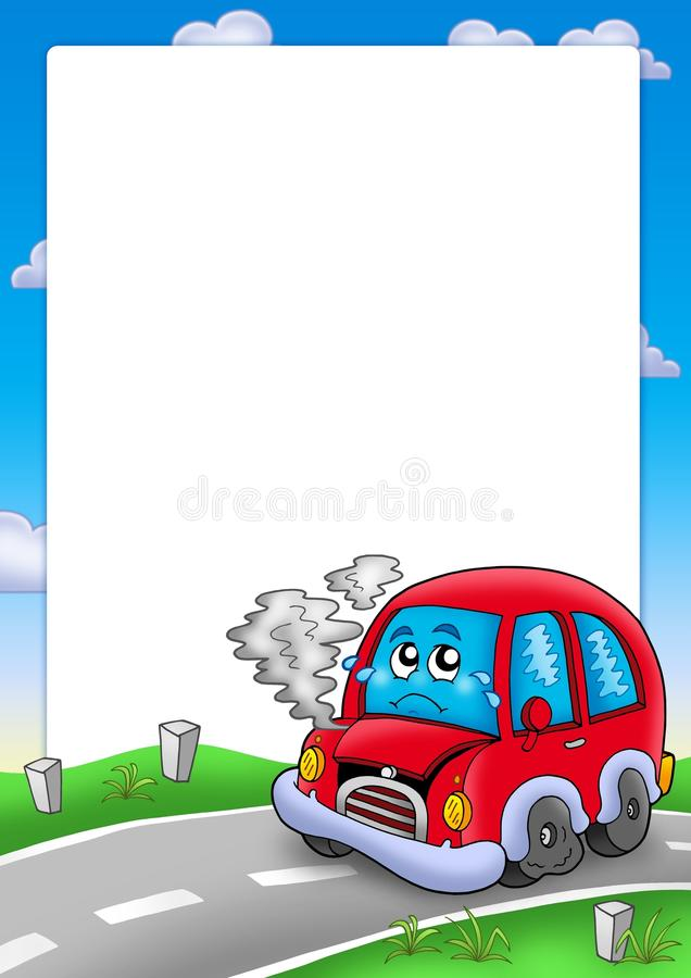 Download Frame With Broken Cartoon Car Royalty Free Stock Image - Image: 12384066
