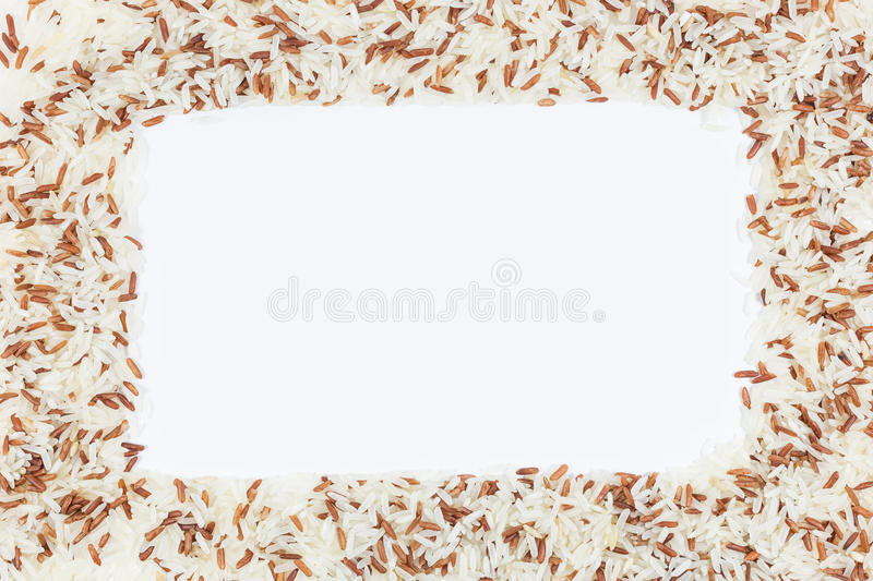 Frame of brown rice stock photos