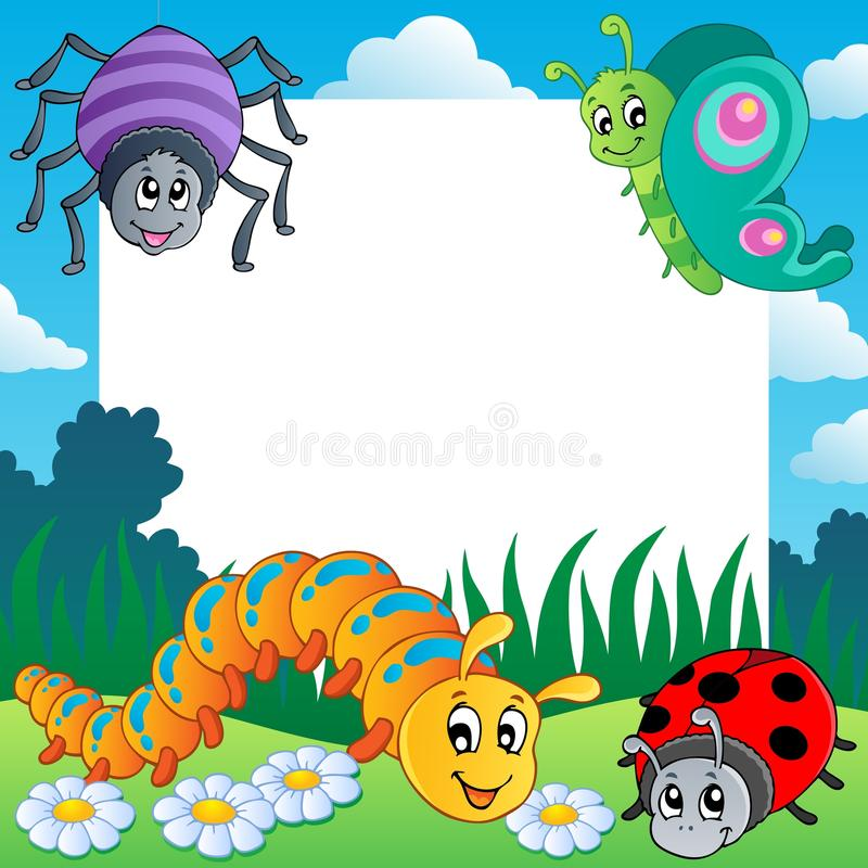 Download Frame with bugs theme 1 stock vector. Image of fine, design - 25269068