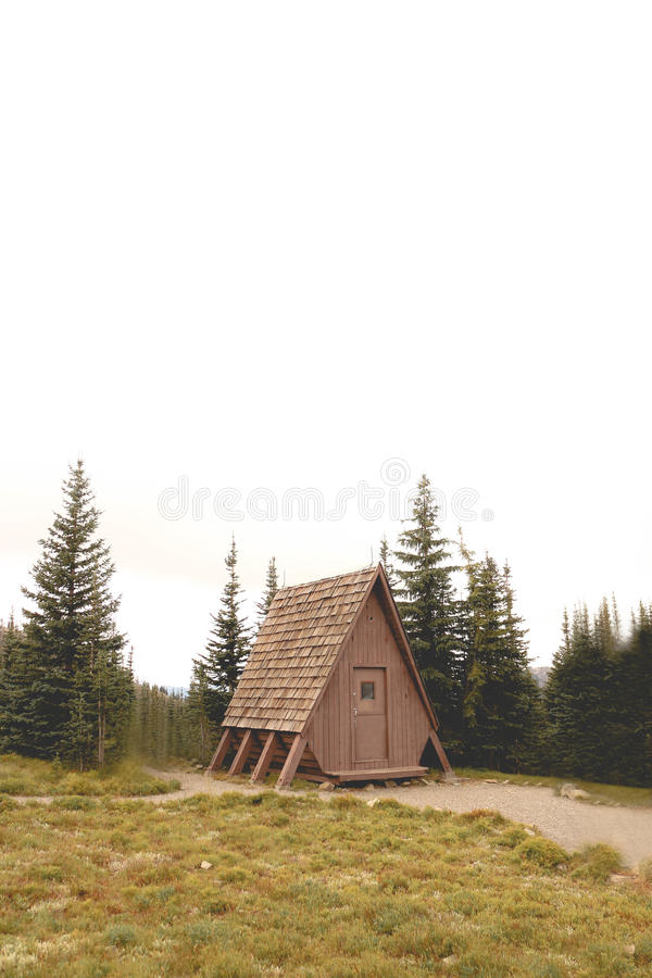 A-frame Cabin royalty free stock photos