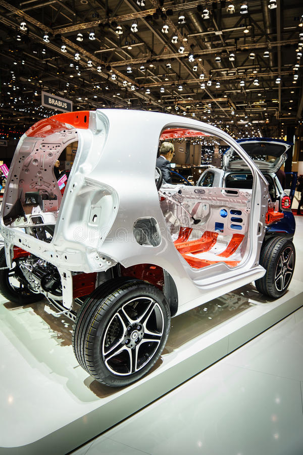 Frame Car, Motor Show Geneve 2015. Editorial Stock Photo - Image of ...