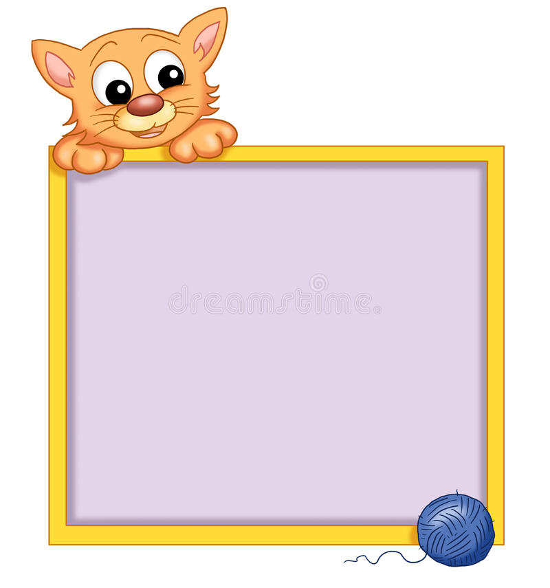 Frame with cat stock illustration. Illustration of happy - 14141318