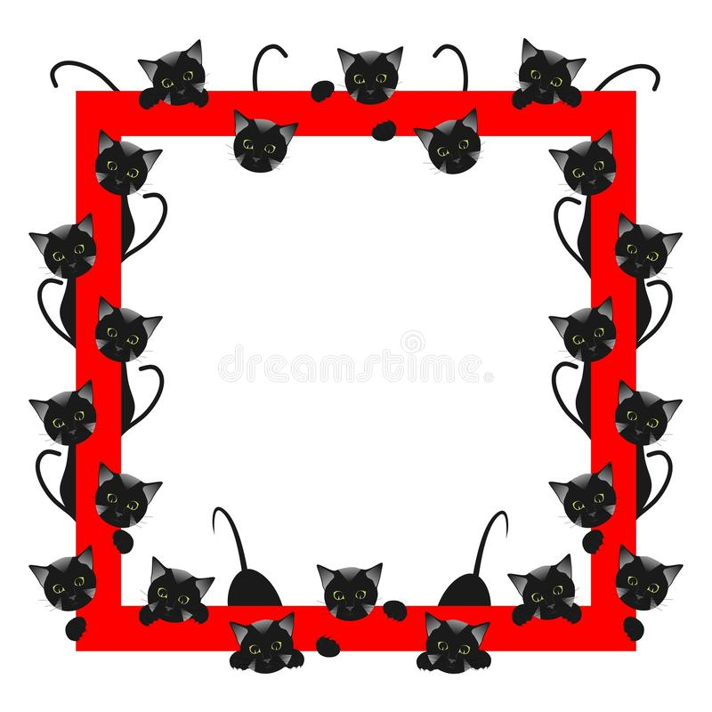 Frame with cats stock photography