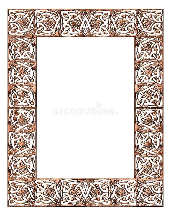 Frame celta ilustração stock