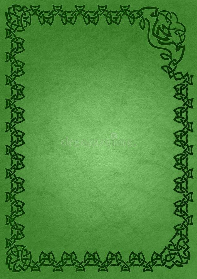 Frame celta - verde ilustração stock