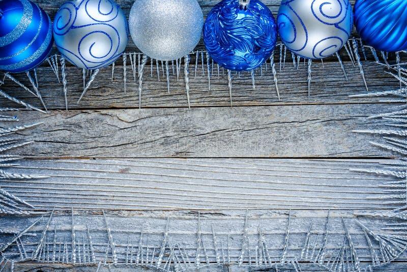 Frame of Christmas Decorations stock photos