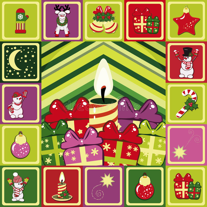 Frame christmas pattern stock images