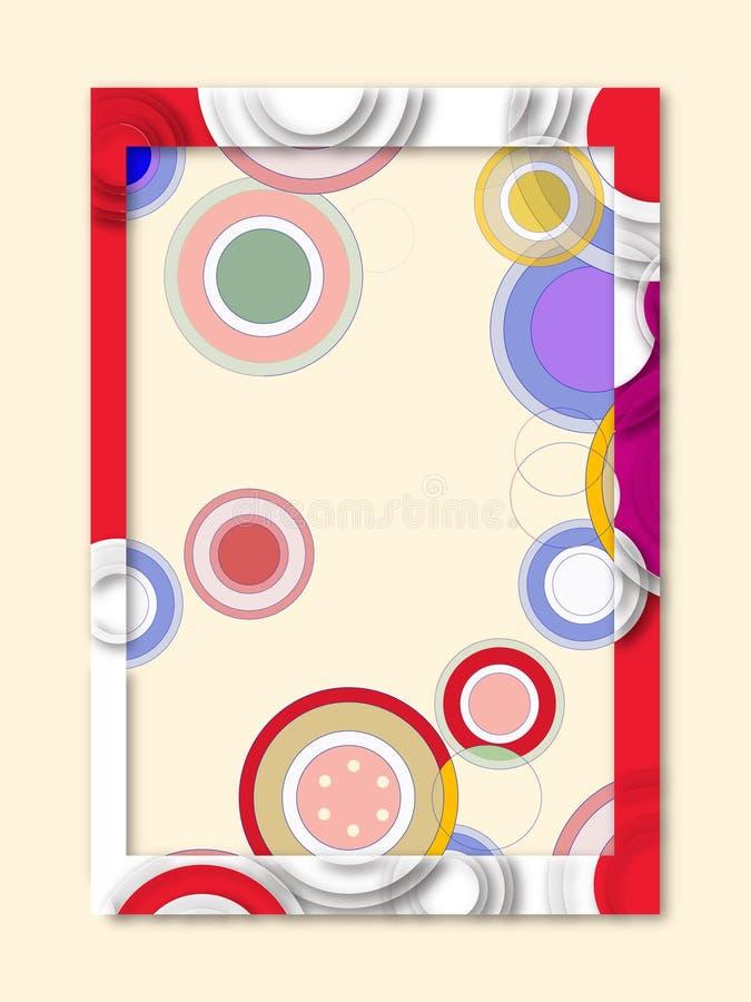 Frame of circles stock image