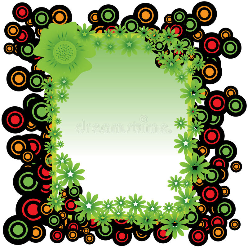 Download Frame From Circles And Flowers Stock Images - Image: 19455684