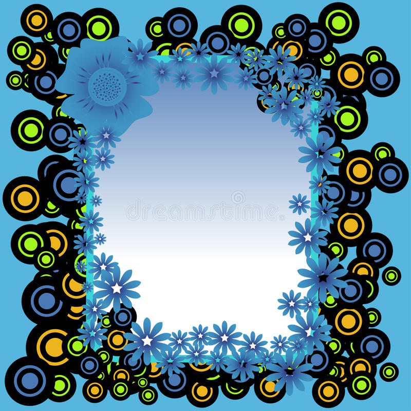 Download Frame From Circles And Flowers Stock Vector - Image: 29123794