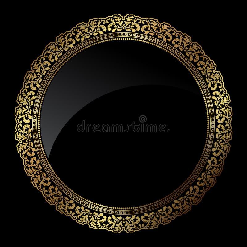 Frame circular do ouro ilustração royalty free