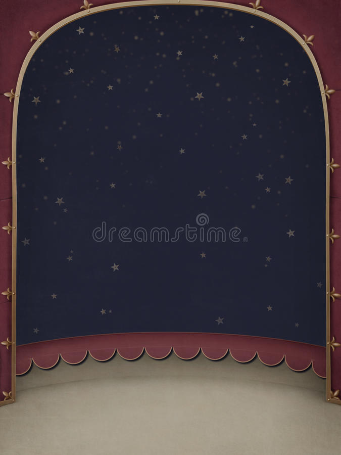 Frame with a circus scene. vector illustration