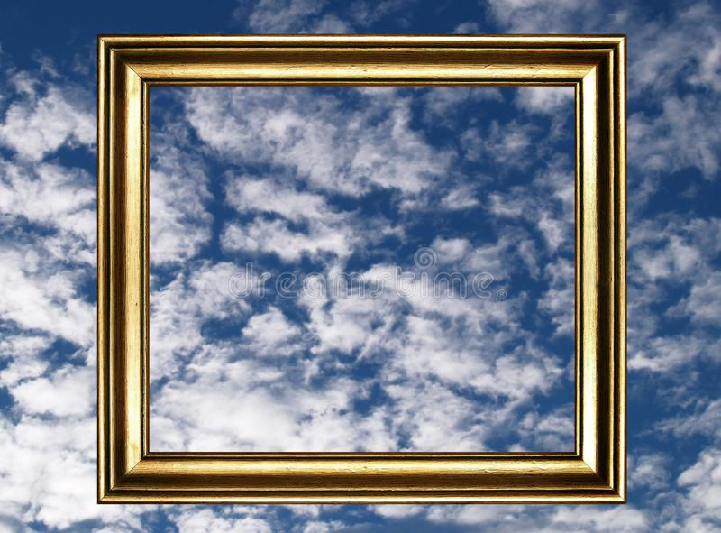 Frame and cloudy sky stock photography
