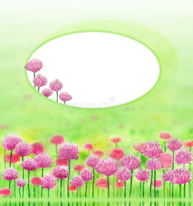 Frame with clover flowers vector illustration