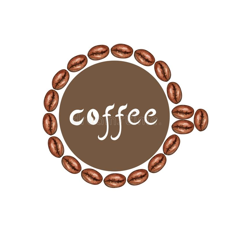 Frame of coffee beans vector illustration
