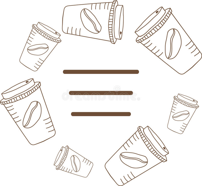 Frame of coffee cups. Vector illustration vector illustration