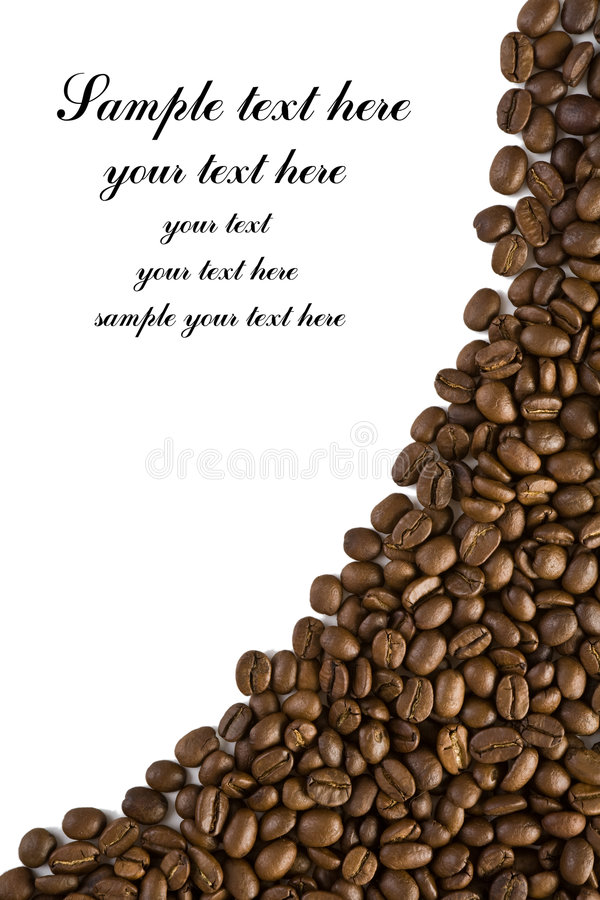 Frame Of Coffee With Curve Outline Stock Photos