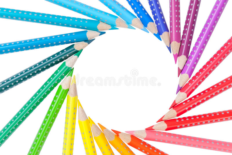 Download Frame From Color Pencils Isolated Stock Image - Image: 26658261
