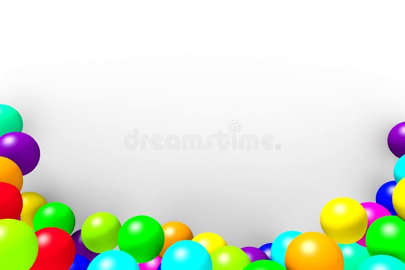 The frame of the colored balls on a white background. royalty free illustration